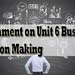 Assignment Unit 6 Business Decision Making