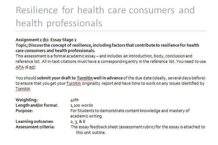 Resilience health care consumers health professionals