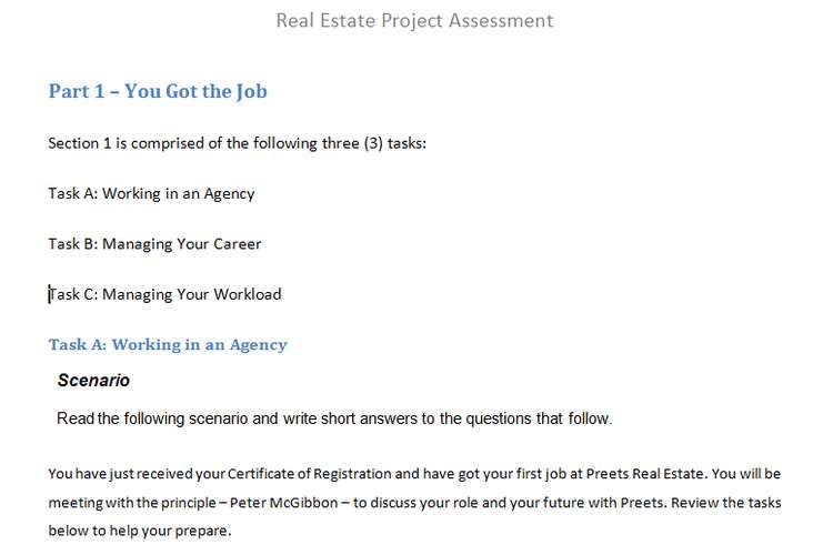 Real Estate Project Assessment