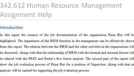 342612 Human Resource Management Assignment Help