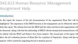 342612 Human Resource Management Assignment Help