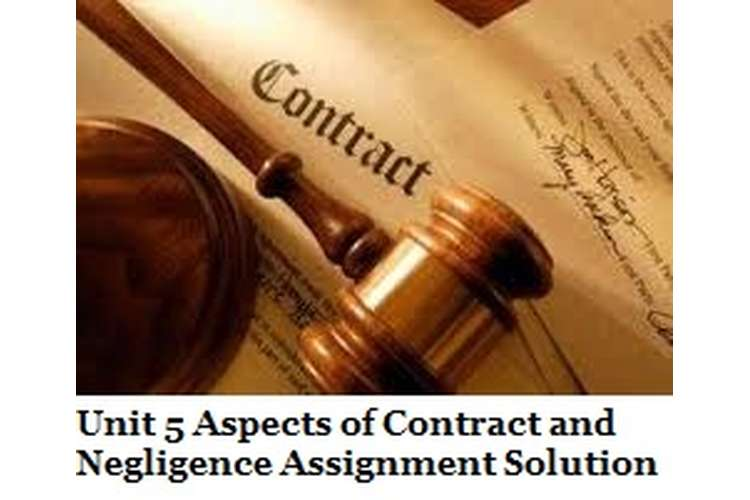 Unit 5 Aspects of Contract and Negligence Assignment Solution