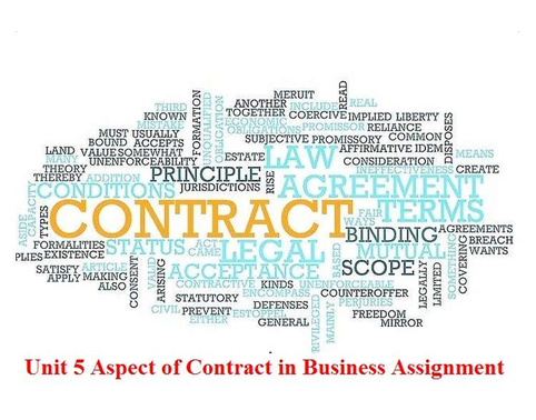 Aspects of Contract Business Assignment Solution