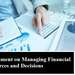 Assignment Managing Financial Resources Decisions