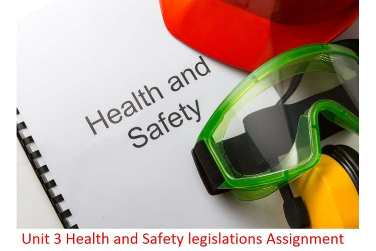 Unit 3 Health and Safety legislations Assignment