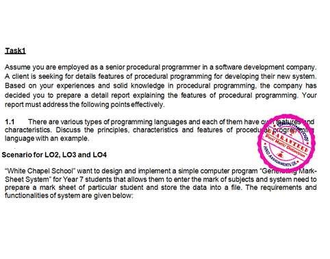 Unit 18 Procedural Programming Merit Copy