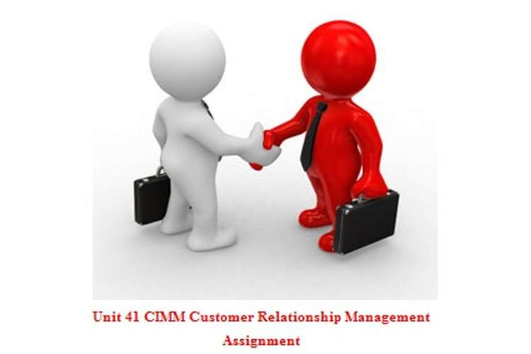 Unit 41 CIMM Customer Relationship Management Assignment
