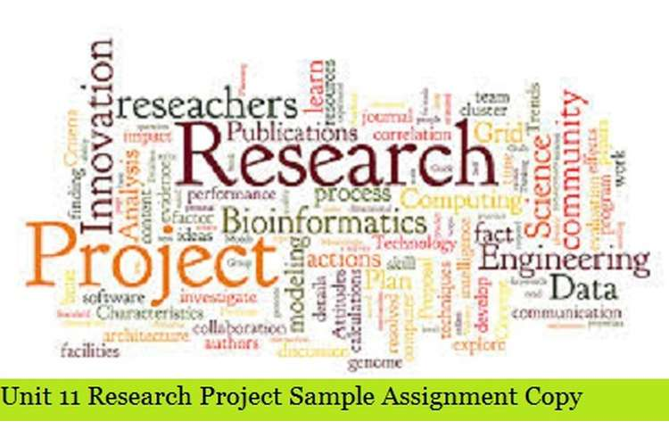 Research Project Sample Assignment Copy