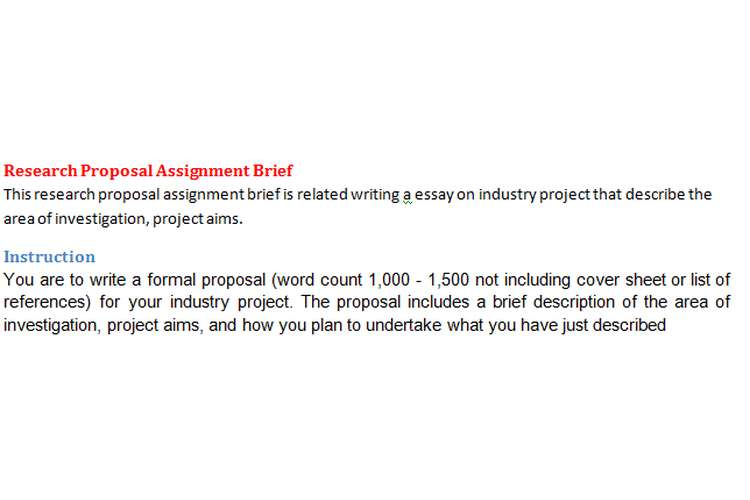 Research Proposal Assignment Brief