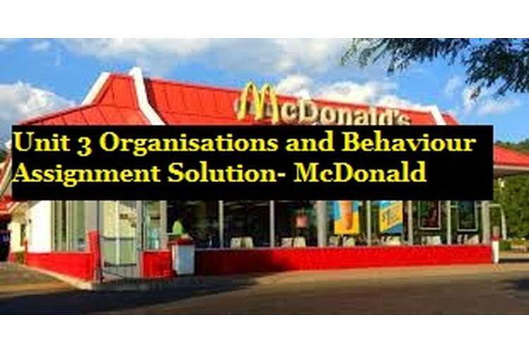 Organisations and Behaviour Assignment Solution McDonald