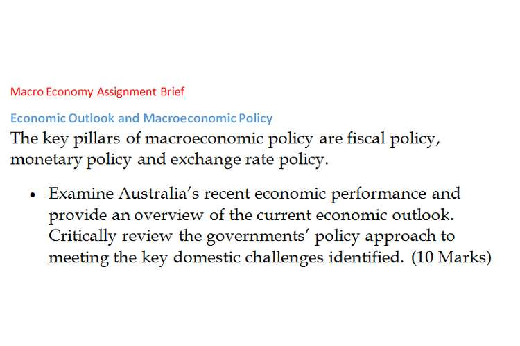 Macro Economy Assignment Brief