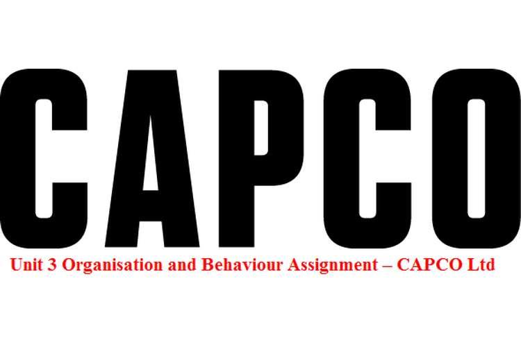 Unit 3 Organisation and Behaviour Assignment – CAPCO Ltd