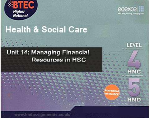 Managing Financial Resources in HSC