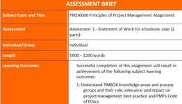 PROJ6000 Principles Project Management Assignment