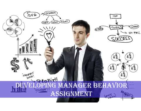 Developing Manager Behavior Assignment