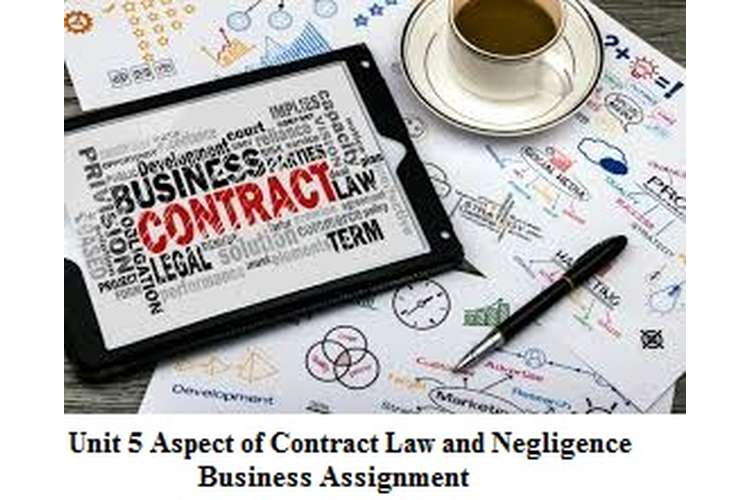 Unit 5 Aspect of Contract Law and Negligence Business Assignment