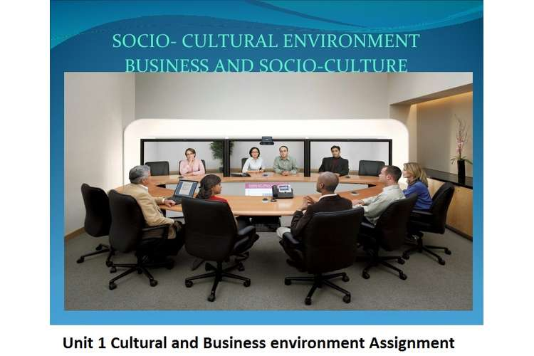 Cultural and Business environment Assignment