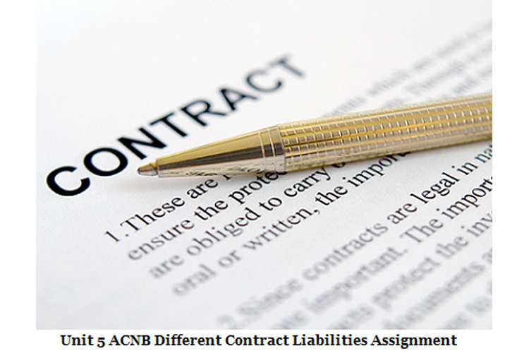 Unit 5 ACNB different Contract liabilities Assignment