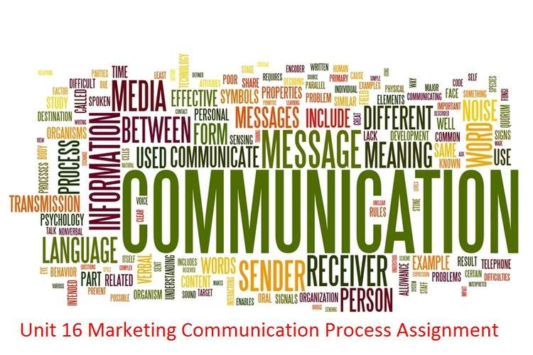 Unit 16 Marketing Communication Process Assignment
