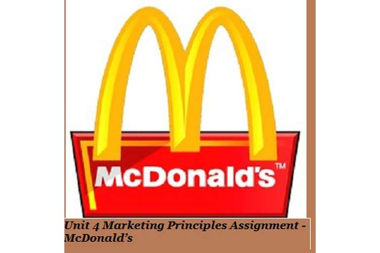 Marketing Principles Assignment McDonalds