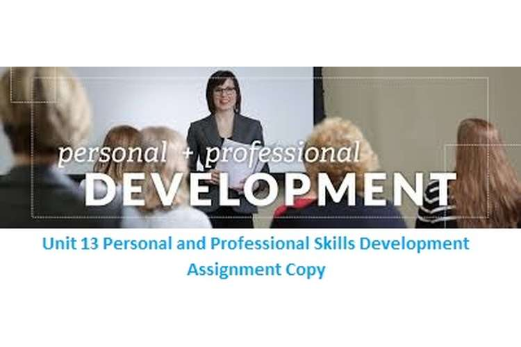 Unit 13 Personal and Professional Skills Development Assignment Copy