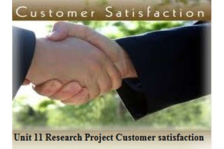 Unit 11 Research Project Assignment Customer satisfaction