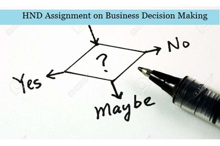 Assignment on Business Decision Making