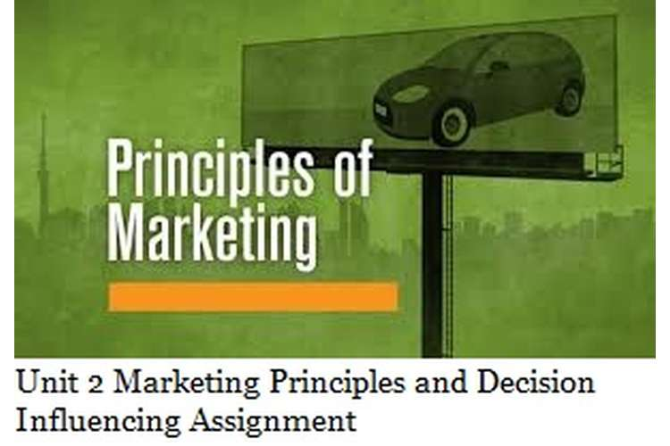 Unit 2 Marketing Principles and Decision Influencing Assignment