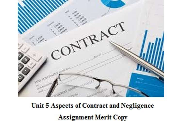 Unit 5 Aspects of Contract and Negligence Assignment Merit Copy