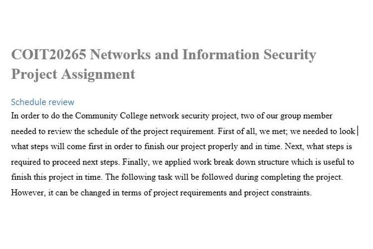COIT20265 Networks Information Security Assignment