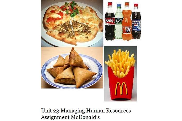 Unit 23 Managing Human Resources Assignment Copy 5 McDonald's