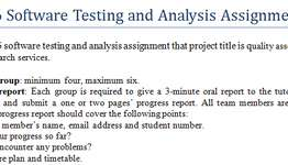 CSCI926 Software Testing Analysis Assignment