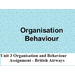 Organisation and Behaviour Assignment - British Airways
