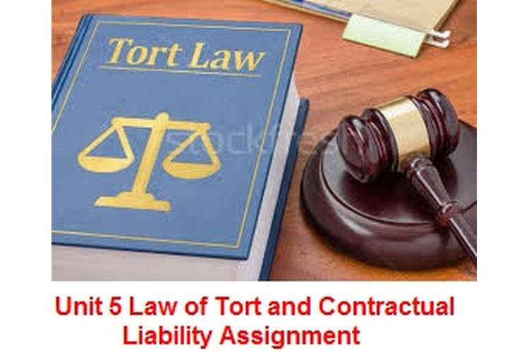 Unit 5 Law of Tort and Contractual Liability Assignment
