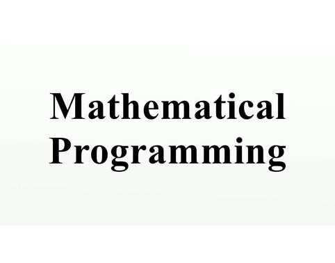 Mathematical Programming Algorithms Assignment