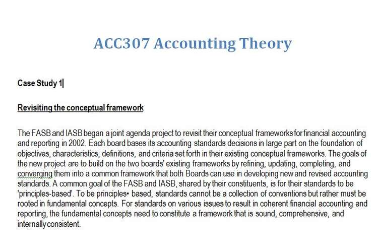 ACC307 Accounting Theory Assignment Brief