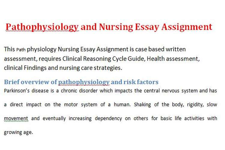 Pathophysiology Nursing Essay Assignment