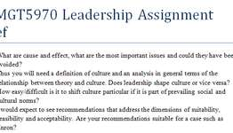 BUMGT5970 Leadership Assignment Brief