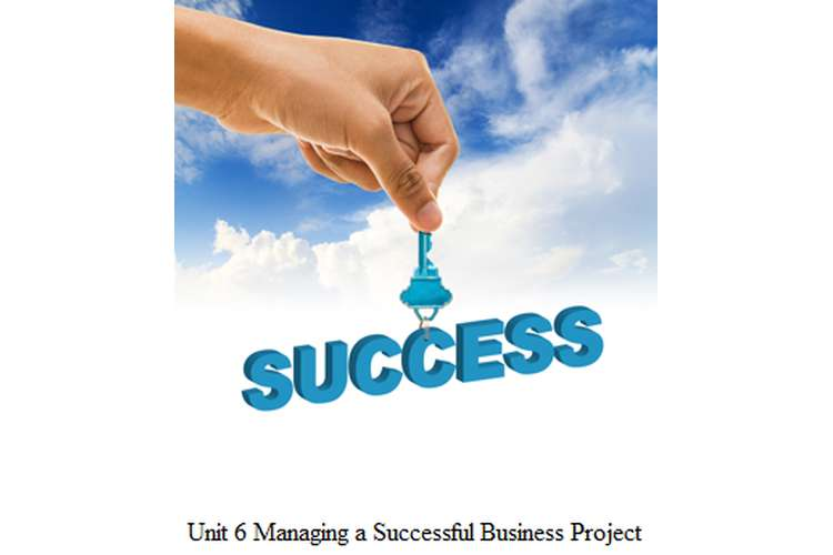 Unit 6 Managing a Successful Business Project Assignment