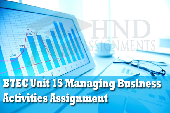 unit 15 managing business activities View essay - mbaar shafindocx from management mgt-101 at university of dhaka pearson btec level 5 hnd diploma in business unit 15: managing business activities to.