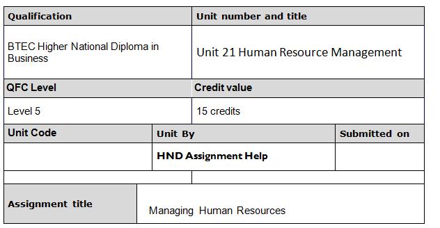 hnd level 5 unit 9