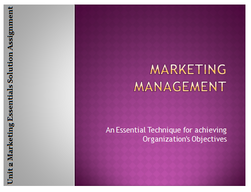 marketing solution assignment Global marketing management assignment help introduction the smith family is a not for profit children's charity organization in australia goal of the organization is to create opportunity for the children who are disadvantaged and help their families to educate them (tebogo and b.