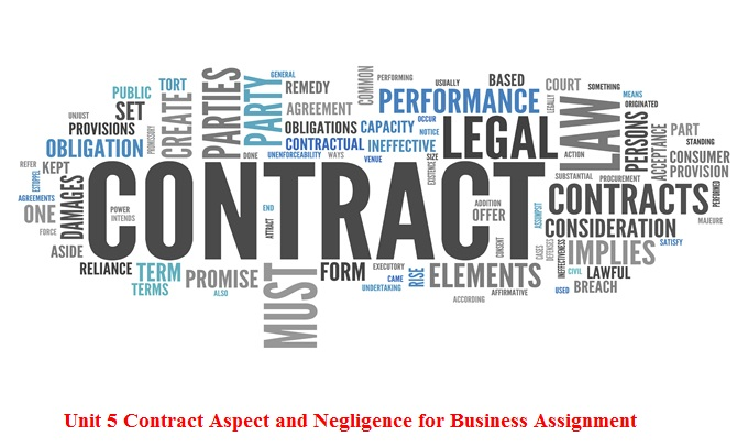 aspect of contract negligence in Hnd assignment help uk is provided by qualified writing professional, this aspects of contract and negligence assignment based on live uk law practices.