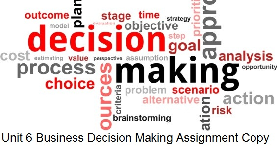 unit 6 business decision making Unit 6: business decision making  home - units - news - links - articles - handouts - books - discussion - unit 1 - unit 2 - unit 3 - unit 4 - unit 5 - unit 6.