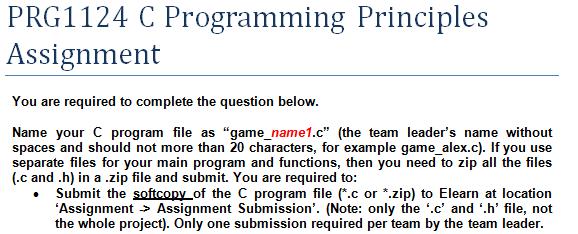 Do my c programming homework