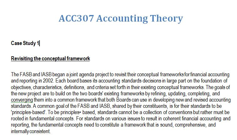 accounting theory assignment 2
