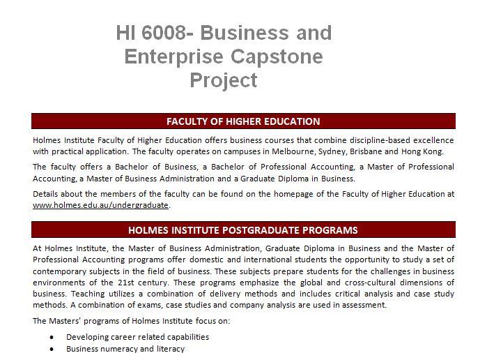 business description for capstone project Video created by copenhagen business school for the course strategic management - capstone project for your final project in this course, we provide you with.