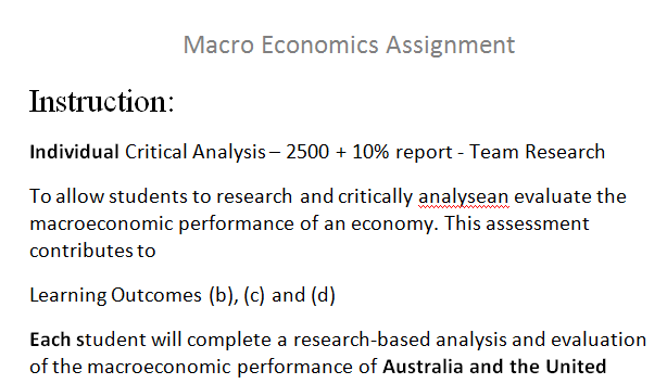 research assignment on macro economics Beraja's job market paper developed a new  young researchers in  macroeconomics today do not.