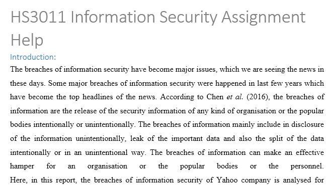 Information security homework help