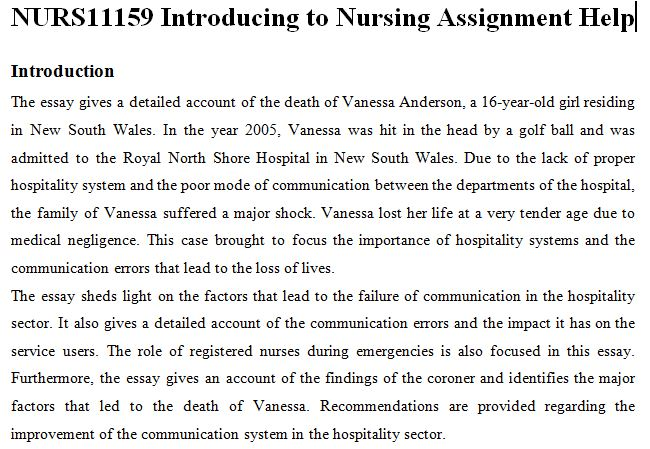 Registered Nurse Essay  Mistyhamel Nurs Introduction Nursing Assignment Help Oz